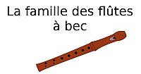 La famille des flûtes à bec