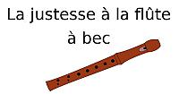 La justesse à la flûte à bec