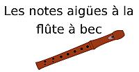 Les notes aigües à la flûte à bec