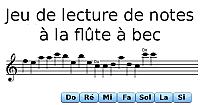 Jeu, lire les notes à la flûte à bec