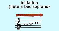 Cours de flûte à bec, initiation