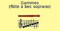 Gammes à la flûte à bec