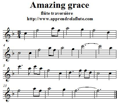partition flute amazing grace