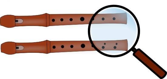 Doubles trous à la flûte à bec