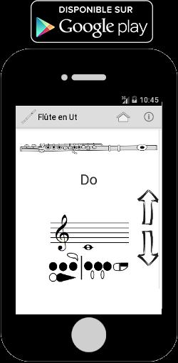 Application Gratuite Android pour les doigtés de la flûte traversière
