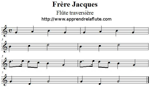 partition guitare frere jacques