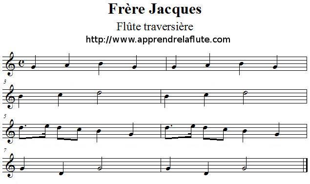 Frère Jacques à la flûte traversière