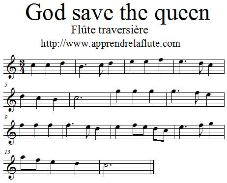 God save the Queen à la flûte traversière