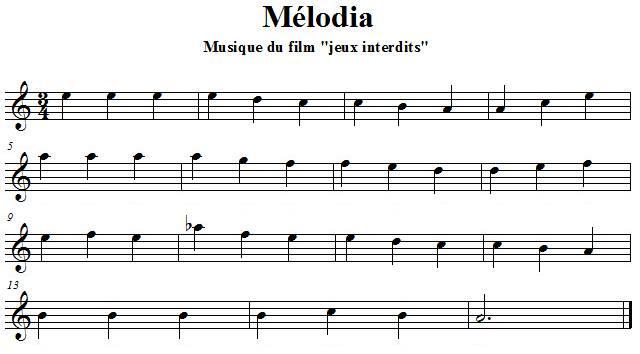 Melodia à la flûte traversière