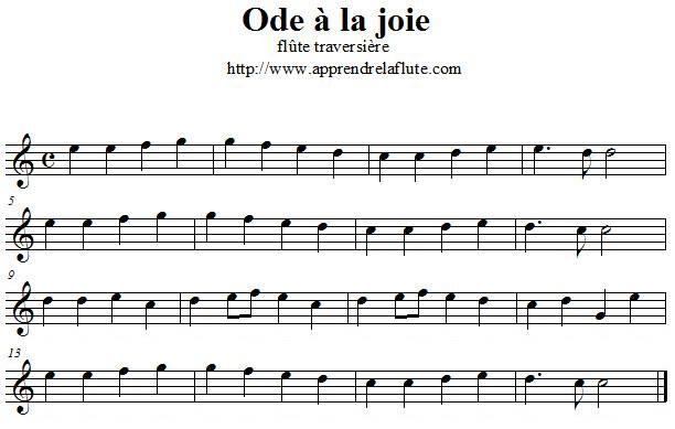 Ode à la joie à la flûte traversière