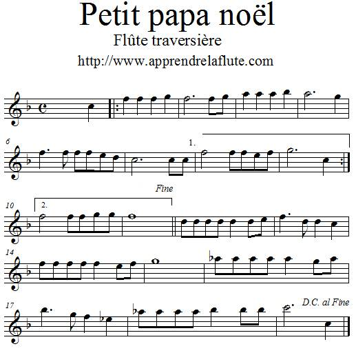 Petit papa noël à la flute traversière